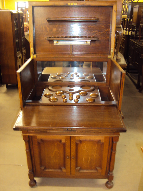 Oak Drinks Cabinet - Antique Wholesale Furniture Dealers Station Road Export Services